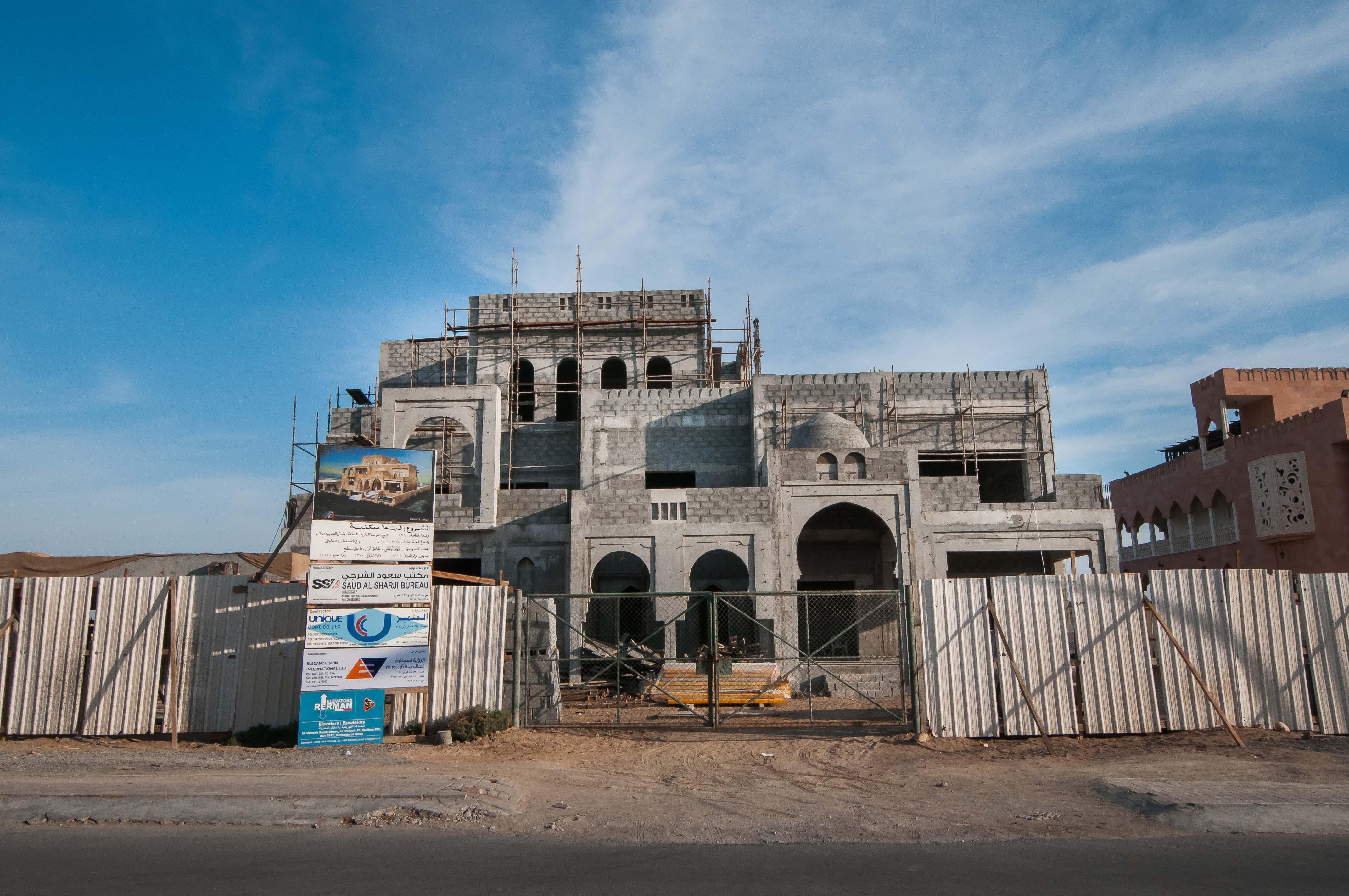 Construction of residential villa at al azaiba north j232 for Construction villa